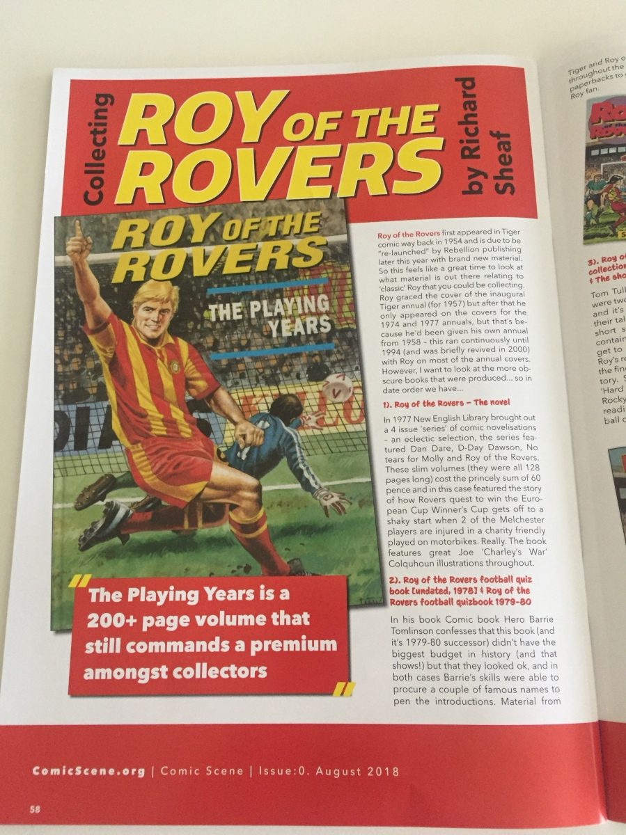 Roy of the Rovers team announced